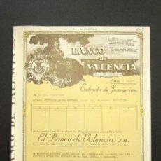 Colecionismo Ações Espanholas: ACCIÓN BANCO DE VALENCIA. VALENCIA, 1988. . Lote 156252126