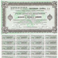 Coleccionismo Acciones Españolas: AUTOPISTAS 1972. Lote 146884078