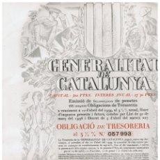 Coleccionismo Acciones Españolas: GENERALITAT DE CATALUYA - 1936. Lote 146884574