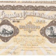 Coleccionismo Acciones Españolas: DRAGADOS Y CONSTRUCCIONES 1957. Lote 146886898