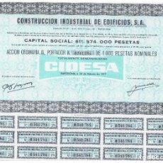 Coleccionismo Acciones Españolas: CONSTRUCCION INDUSTRIAL DE EDIFICIOS CIDESA. Lote 146887490