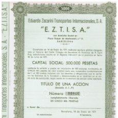 Coleccionismo Acciones Españolas: EDUARDO ZACARINI 1971. Lote 146887794
