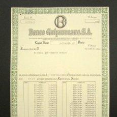 Coleccionismo Acciones Españolas: ACCIÓN BANCO GUIPUZCOANO S.A. SAN SEBASTIÁN, 1989.. Lote 281838643