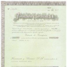 Coleccionismo Acciones Españolas: FINANZAUTO Y SERVICIOS. Lote 146964174