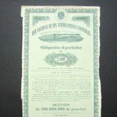 Coleccionismo Acciones Españolas: OBLIGACIÓN RENFE. RED NACIONAL DE FERROCARRILES ESPAÑOLES. SERIE B. 2.500 PESETAS. MADRID, 1946.. Lote 147028798