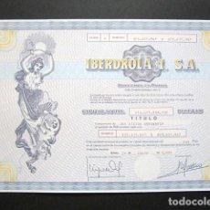 Coleccionismo Acciones Españolas: ACCIÓN IBERDROLA I, S.A. BILBAO, 1991.. Lote 194269055