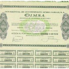 Coleccionismo Acciones Españolas: OIMSA. Lote 147089082