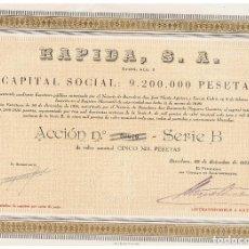 Coleccionismo Acciones Españolas: RAPIDA SA 1951. Lote 147091058