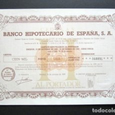 Coleccionismo Acciones Españolas: ACCIÓN BANCO HIPOTECARIO DE ESPAÑA. CÉDULA HIPOTECARIA. MADRID, 1986. . Lote 147160554