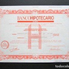 Coleccionismo Acciones Españolas: ACCIÓN BANCO HIPOTECARIO DE ESPAÑA. CÉDULA HIPOTECARIA. MADRID, 1988. . Lote 147160690