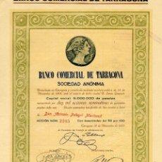 Coleccionismo Acciones Españolas: BANCO COMERCIAL DE TARRAGONA - ACCION 1919. Lote 147574490