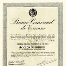 Coleccionismo Acciones Españolas: BANCO COMERCIAL DE TARRASA - ACCION 1935. Lote 147574642