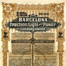 Coleccionismo Acciones Españolas: BARCELONA TRACTION, LIGHT & POWER - BONO 1918. Lote 147580266