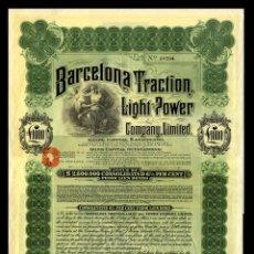 Coleccionismo Acciones Españolas: BARCELONA TRACTION, LIGHT & POWER - BONO 1924. Lote 147585118