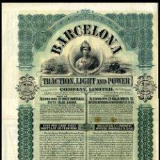 Coleccionismo Acciones Españolas: BARCELONA TRACTION, LIGHT & POWER - BONO 1911. Lote 147585630