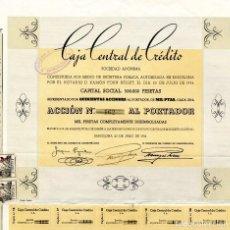 Coleccionismo Acciones Españolas: CAJA CENTRAL DE CREDITO - ACCION 1934. Lote 147586486