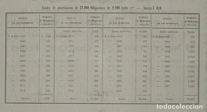 Coleccionismo Acciones Españolas: Compañía de los Ferrocarriles de Sevilla - Jerez - Cádiz (1861) - Foto 3 - 147688414