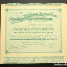 Coleccionismo Acciones Españolas: ACCIÓN SOCIEDAD DE AGUAS POTABLES Y MEJORAS DE VALENCIA. VALENCIA, 1965. . Lote 147907810