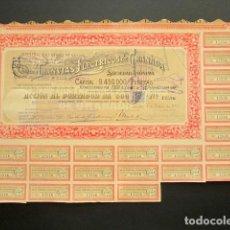 Coleccionismo Acciones Españolas: ACCIÓN TRANVÍAS ELÉCTRICOS DE GRANADA. GRANADA, 1925.. Lote 221333127