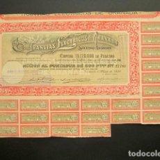 Coleccionismo Acciones Españolas: ACCIÓN TRANVÍAS ELÉCTRICOS DE GRANADA. GRANADA, 1929.. Lote 221333273