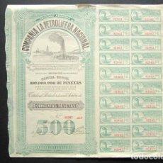 Coleccionismo Acciones Españolas: ACCIÓN COMPAÑÍA DE LA PETROLÍFERA NACIONAL. SAN SEBASTIÁN, 1928. . Lote 148047150