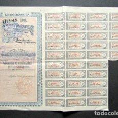Coleccionismo Acciones Españolas: ACCIÓN MINAS DE TEVERCA S.A. BILBAO, 1904. . Lote 148052402