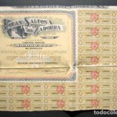 Coleccionismo Acciones Españolas: ACCIÓN AGUAS Y SALTOS DEL ZADORRA S.A. BILBAO, 1947. . Lote 148053666