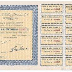 Coleccionismo Acciones Españolas: PRODUCTORA DE METILENO Y DERIVADOS 1942. Lote 148053734