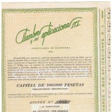 Coleccionismo Acciones Españolas: ALAMBRES Y SUS APLICACIONES . Lote 148054862