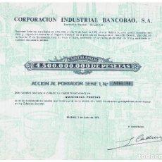 Coleccionismo Acciones Españolas: CORPORACION INDUSTRIAL BANCOBAO. Lote 148084086