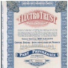 Coleccionismo Acciones Españolas: ELECTROTRUST. Lote 148085174