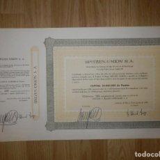 Coleccionismo Acciones Españolas: ACCIÓN - SPITZEN-UNIÓN, S.A. - 12 DE AGOSTO DE 1969 -. Lote 148112958