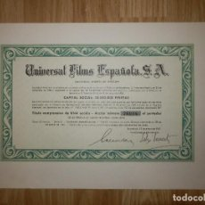 Coleccionismo Acciones Españolas: ACCIÓN - UNIVERSAL FILMS ESPAÑOLA, S.A. - 13 DE ENERO DE 1967 -. Lote 148112978