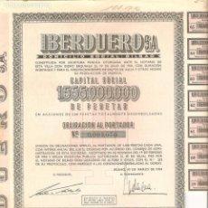 Coleccionismo Acciones Españolas: ACCIÓN-OBLIGACIÓN, IBERDUERO S.A., 1954. Lote 148969570