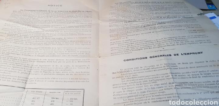 Coleccionismo Acciones Españolas: EMISION ACCIONES FERROCARRIL VALENCIA Y NORDESTE DE ESPAÑA. CALATAYUD TERUEL SAGUNTO VALENCIA 1893 - Foto 3 - 149504730