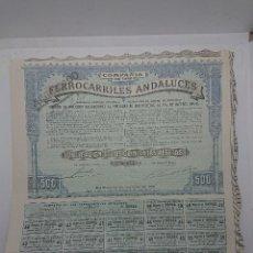 Collezionismo Azioni Spagnole: COMPAÑIA DE LOS FERROCARRILES ANDALUCES 1920. Lote 149704742
