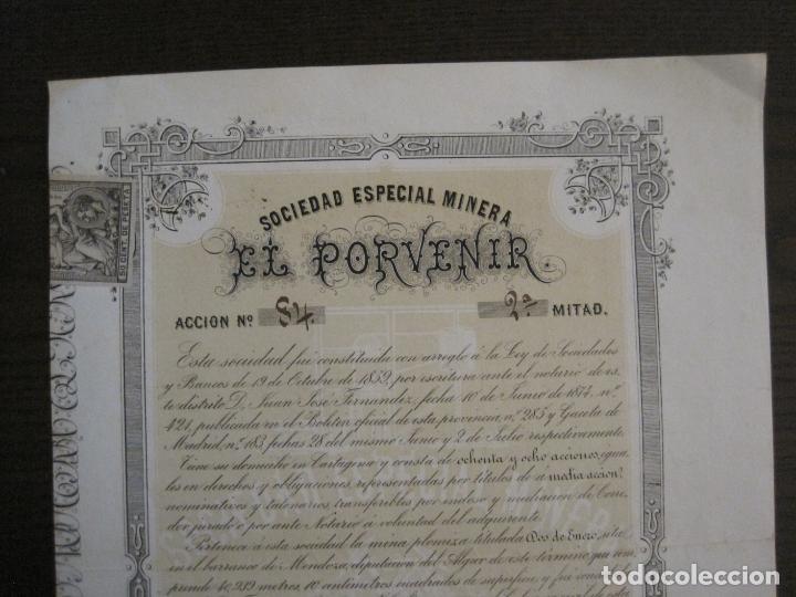Coleccionismo Acciones Españolas: ACCION SOCIEDAD ESPECIAL MINERA-CARTAGENA-VER FOTOS-(ACCION-48) - Foto 2 - 150008038