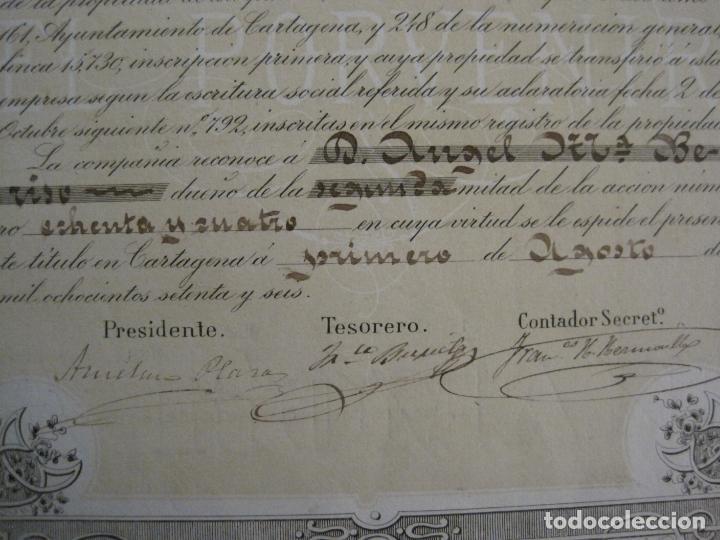 Coleccionismo Acciones Españolas: ACCION SOCIEDAD ESPECIAL MINERA-CARTAGENA-VER FOTOS-(ACCION-48) - Foto 5 - 150008038