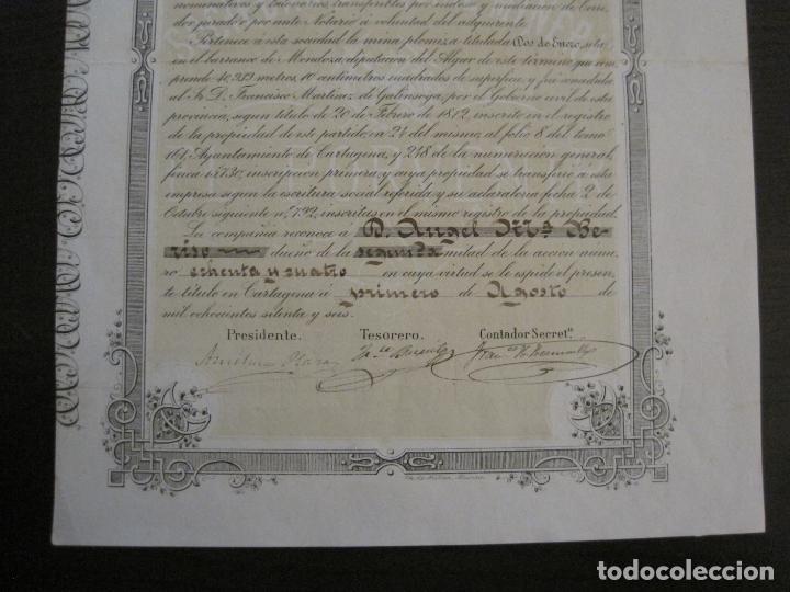 Coleccionismo Acciones Españolas: ACCION SOCIEDAD ESPECIAL MINERA-CARTAGENA-VER FOTOS-(ACCION-48) - Foto 7 - 150008038