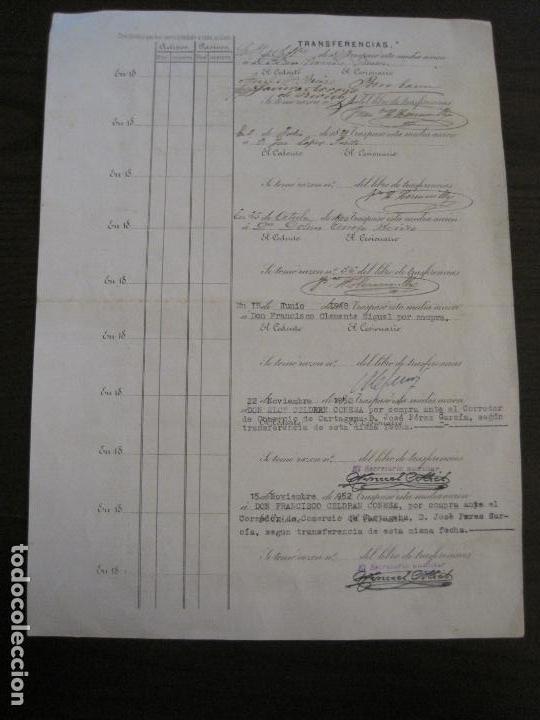 Coleccionismo Acciones Españolas: ACCION SOCIEDAD ESPECIAL MINERA-CARTAGENA-VER FOTOS-(ACCION-48) - Foto 8 - 150008038