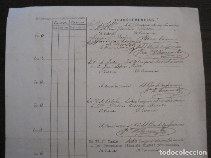 Coleccionismo Acciones Españolas: ACCION SOCIEDAD ESPECIAL MINERA-CARTAGENA-VER FOTOS-(ACCION-48) - Foto 9 - 150008038