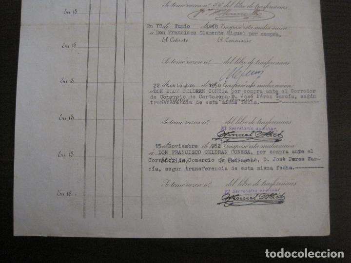 Coleccionismo Acciones Españolas: ACCION SOCIEDAD ESPECIAL MINERA-CARTAGENA-VER FOTOS-(ACCION-48) - Foto 10 - 150008038