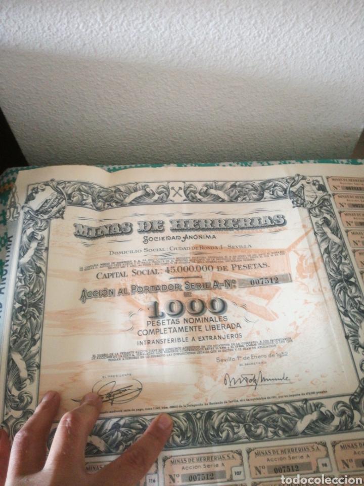 ACCIONES DE MINAS DE HERRERIAS (Coleccionismo - Acciones Españolas)