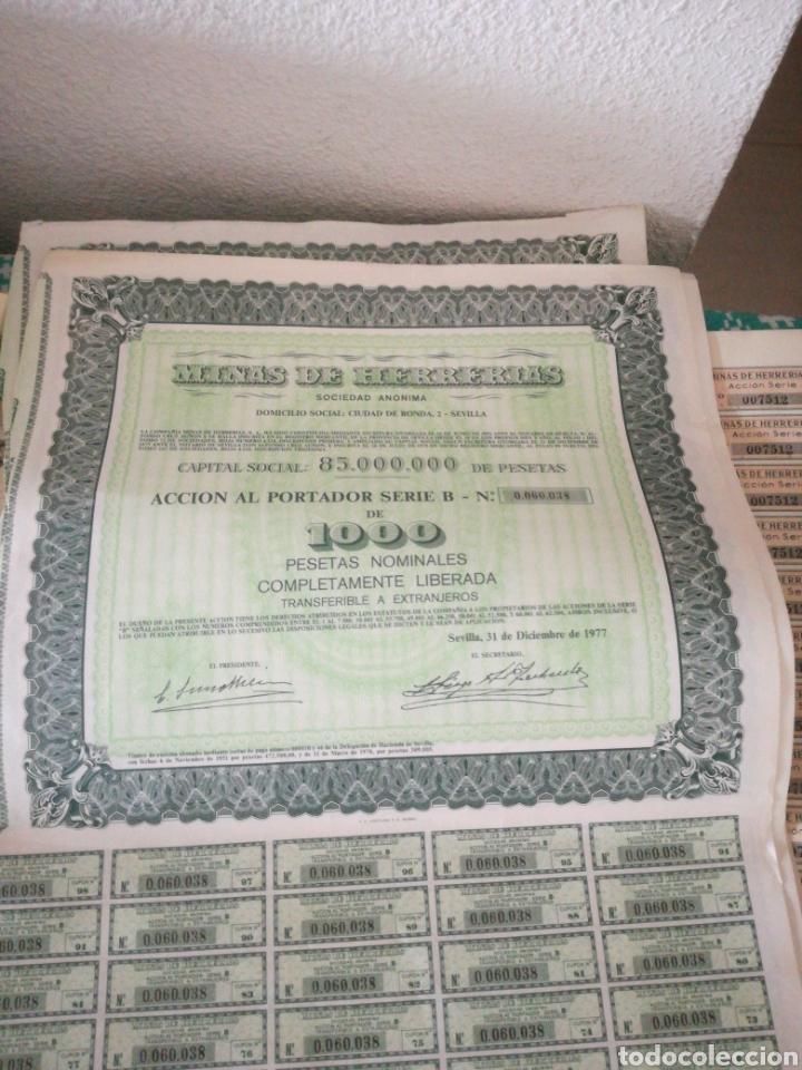 Coleccionismo Acciones Españolas: ACCIONES DE MINAS DE HERRERIAS - Foto 2 - 151774348