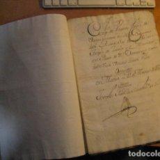 Colecionismo Ações Espanholas: MANUSCRITO DE 1750 40PGS ESCRITURA DE VENTA DE 20 ACCIONES DE LA COMPAÑIA DE LA ABANA. Lote 152001158