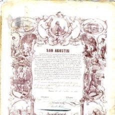 Coleccionismo Acciones Españolas: ALMERIA SIERRA ALMAGRERA SOC. ESP MINERA SAN AGUSTIN CUEVAS 1860. Lote 152720634