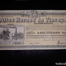 Coleccionismo Acciones Españolas: ACCIÓN ALTOS HORNOS DE VIZCAYA. 1959. Lote 154330686