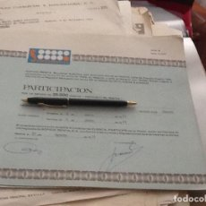 Collectionnisme Actions Espagne: PARTICIPACIÓN SOFICO 6840. Lote 158927538