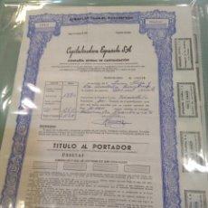 Coleccionismo Acciones Españolas: ACCIÓN COMPAÑÍA GENERAL CAPITALIZACIÓN. Lote 160624208