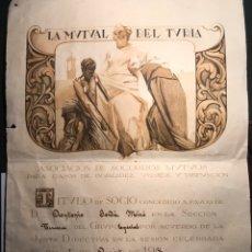 Coleccionismo Acciones Españolas: MUTUAL TURIA. VALENCIA 1936. Lote 160945350
